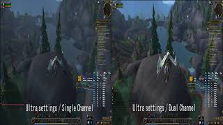 Does GTX1060 3Gb do well in Battle For Azeroth dx12? Single channel vs dual channel memory.