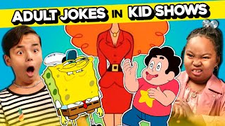 Kids React To Adult Jokes In Kids' Shows (SpongeBob, Animaniacs, Steven Universe & More!)