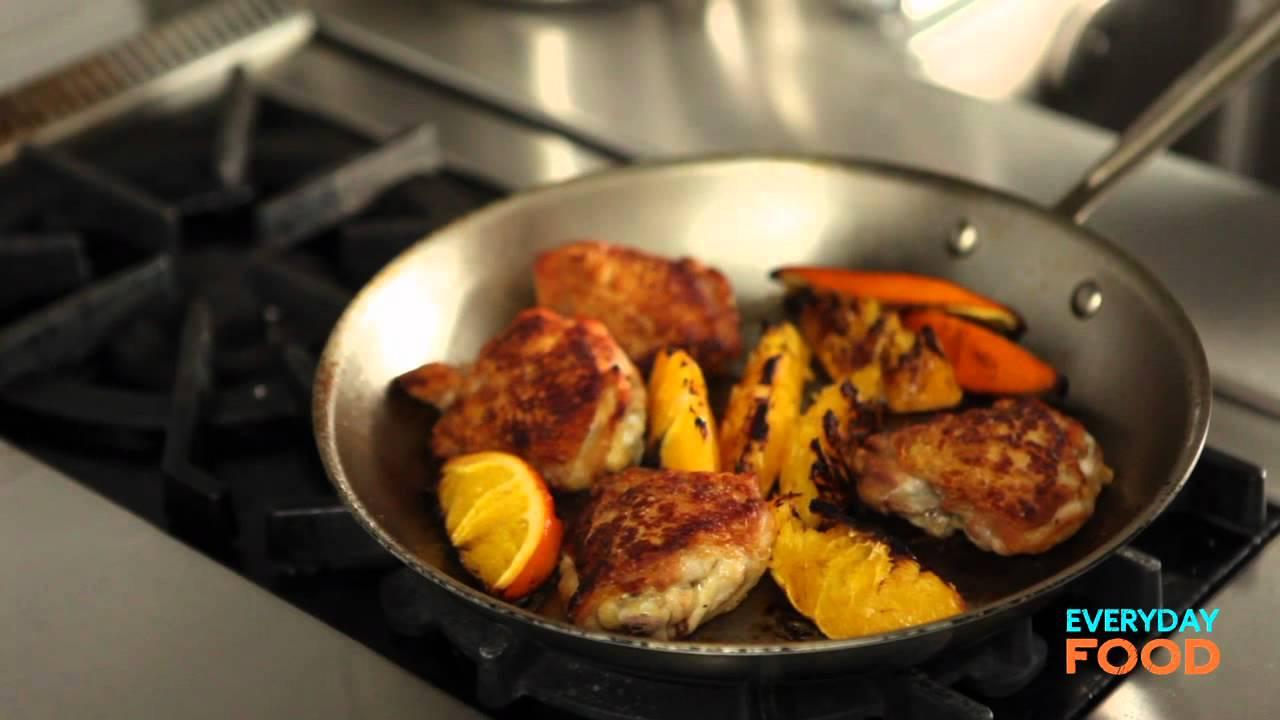 Orange Balsamic Chicken   Everyday Food with Sarah Carey - YouTube