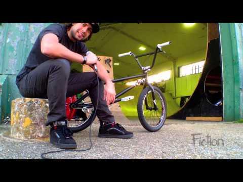 Dustin Grice Bike Check Fiction BMX Frame Stolen Bike Co Parts Filmed at Ghetto Shed England