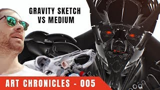 GRAVITY SKETCH VS MEDIUM: Off-The-Cuff VR Experiment. Suggestion to Pixologic!