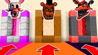 Minecraft PE : DO NOT CHOOSE THE WRONG SECRET BASE! (Five Nights at Freddy's 2)