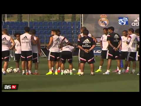 Real Madrid preparing for the Super Cup