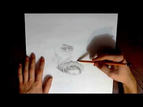 Видео как нарисовать портрет Тараса Шевченка