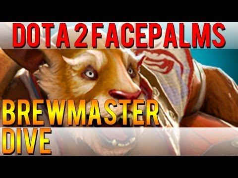 Dota 2 Facepalms - Brewmaster Dive