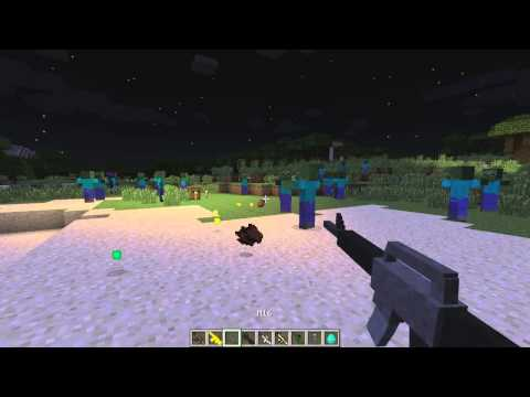 MINECRAFT: COUNTER STRIKE & CALL OF DUTY MOD - STEFINUS 3D GUNS -MOD REVIEW - 1.7.2 -