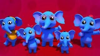 Elefantes Dedo Família | Animais Dedo Família | Rimas Em Portugues | Elephants Finger Family