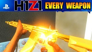 1 Kill with EVERY WEAPON in H1Z1 Playstation 4!