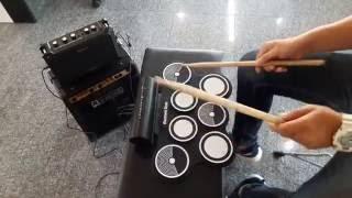 Review silicon drum pad konix w759