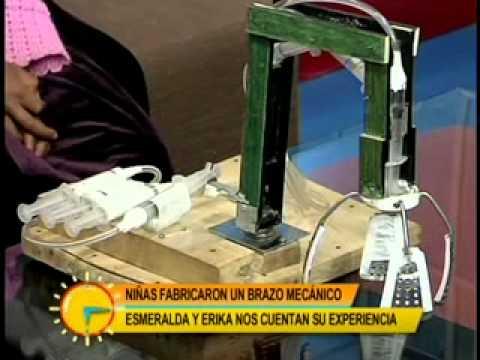 Levántate Bolivia con Ericka y Esmeralda las niñas bolivianas que crearon un brazo hidráulico