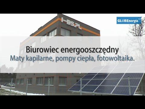 Biurowiec energooszczędny: maty kapilarne, pompy ciepła....