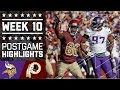 Vikings Vs Redskins NFL Week 10 Game Highlights mp3