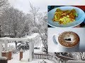 Beautiful snow Video & Hot Chocolate Coffee||vegetable cheese omelet