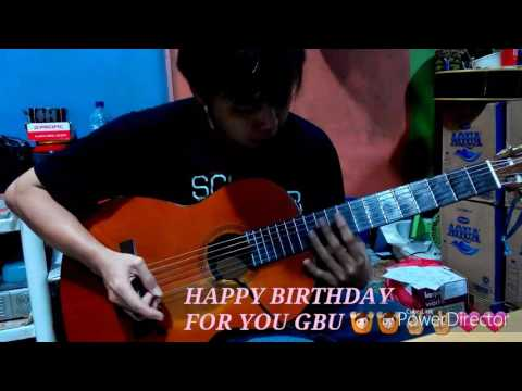 Happy Birthday Fingers Style Guitar Solo Cover-Arranger-Ferrylao-