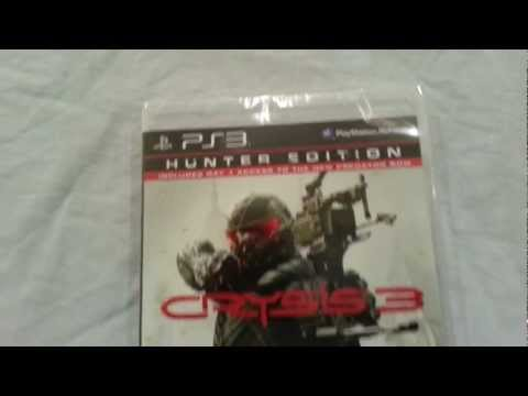 Crysis 3 HUNTER EDITION  Unboxing ps3