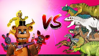 Dinosaurs Battle | FNAF Robot Vs Dinosaurs [Five Nights at Freddy's FIGHT Animation]