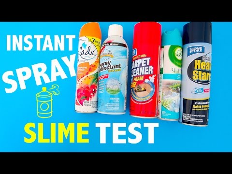 Instant Spray On Slime Test