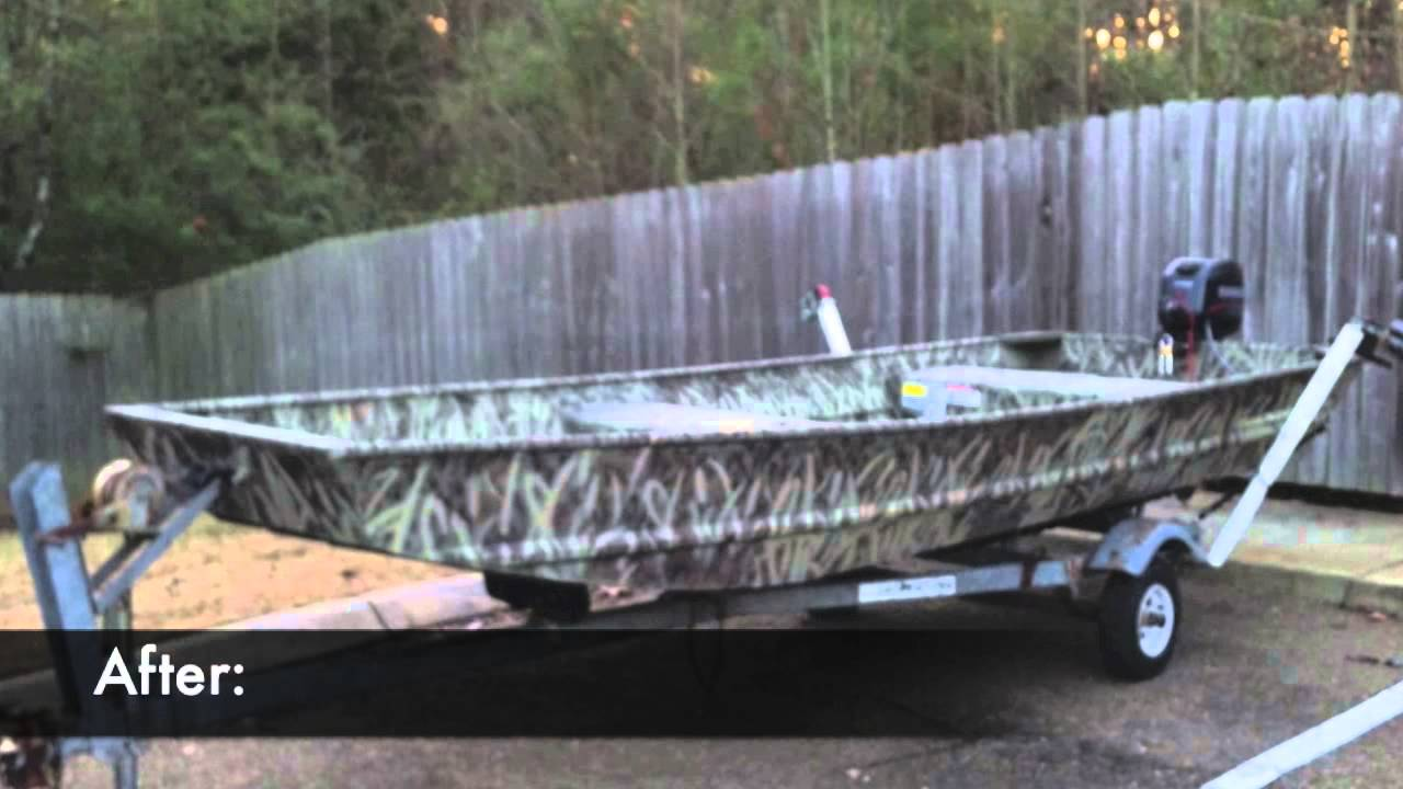 Camo Paint Job For A Duck Boat Jon YouTube