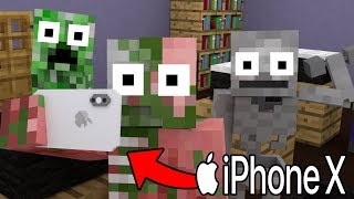 Monster School Unboxing Iphone X Minecraft Animation