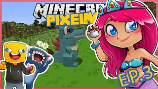 Pixelmon With Squid & Ash! Ep.3 Let's Battle Squid! | Minecraft Lets Play | Amy Lee33