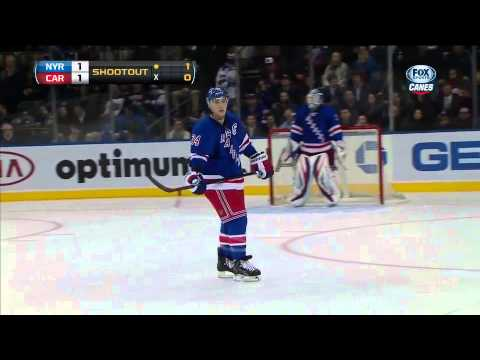 Carolina Hurricanes @ New York Rangers Shootout 3/18/13
