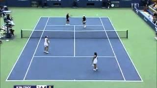 King/Shvedova vs Petrova/Huber 2010 US Open Highlights