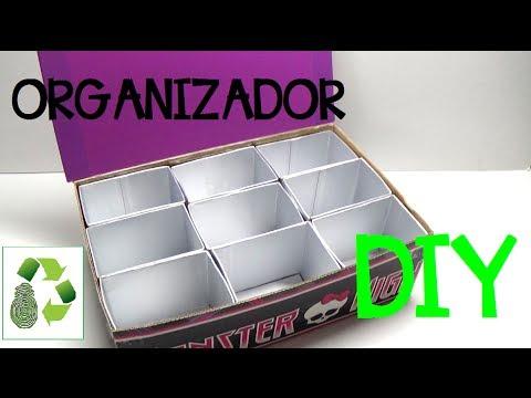 99. DIY ORGANIZER (COMO ORGANIZAR GOMITAS)  RECICLAJE DE ENVASES Y CARTÓN