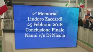 Memorial LINDORO ZACCARDI - Circuito Elite - raffa - Conclusione