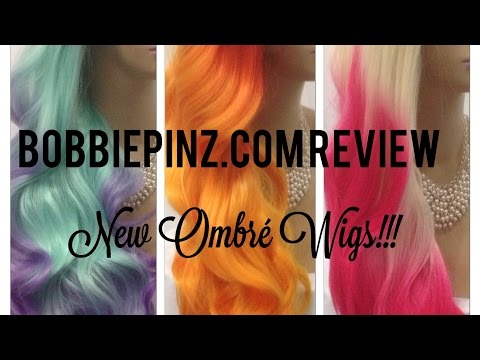 BobbiePinz Wig Review New Synthetic Ombre Wigs!!!