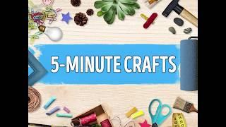 [5-Minute Crafts] A cool idea to decorate a notebook