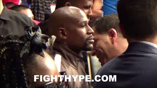 MAYWEATHER'S SHOCKED REACTION TO HIS FIGHTER, GAVRIL, LOSING DECISION TO BENAVIDEZ; SHAKES HEAD