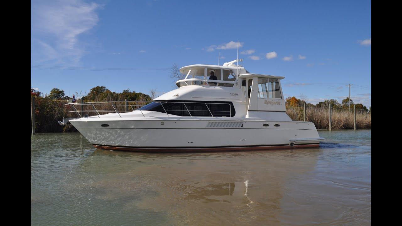2000 Carver 504 Cockpit Motor Yacht - YouTube