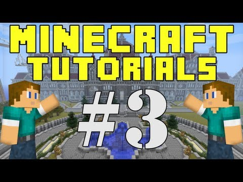 Minecraft Tutorials E03: First House, Bed, Sheers