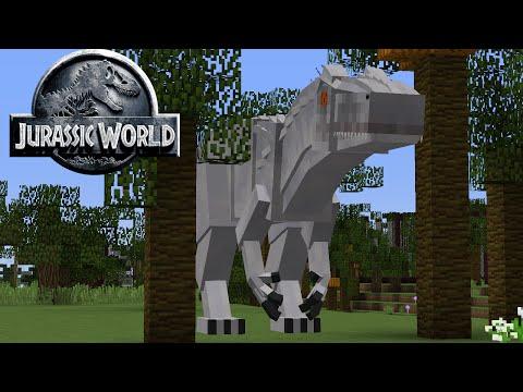 Minecraft 1.8 XXL Mod Review -- Jurasic World Mod (2.0) -- IkBenJeGame (dutch)