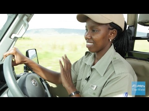 Ride with one of the only female safari guides in Kenya   The World on YouTube