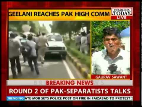 Hurraiyat leader Geelani meets the Pakistan envoy to India, Abdul Basit