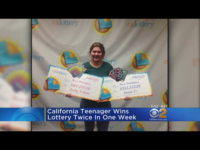 California Teen Wins Lottery Twice In One Week