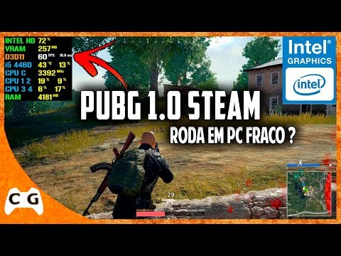 Battlegrounds (PUBG 1.0) Gameplay Na Intel HD Graphics Roda Em PC Fraco ? #493