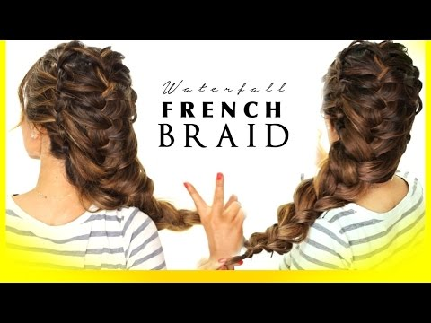 ★ WATERFALL Braids Linked ELSA BRAID Tutorial | Updo Hairstyles