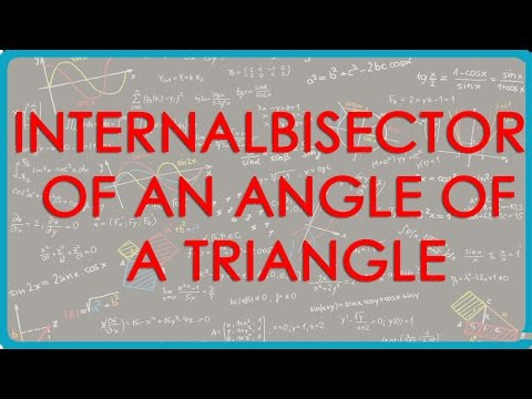 Internal Bisector of an angle of a Triangle divides the opposite side internally in the ratio of the