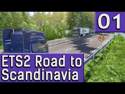 ETS2 Road to SCANDINAVIA #1 Aufbruch in den traumhaft schönen Norden Neuer DLC deutsch