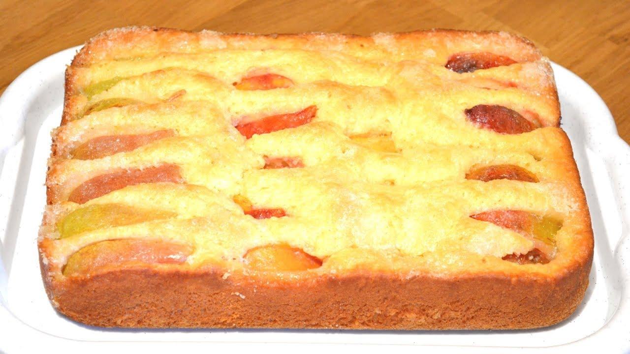 Пирог с абрикосами простой рецепт пошагово в домашних условиях