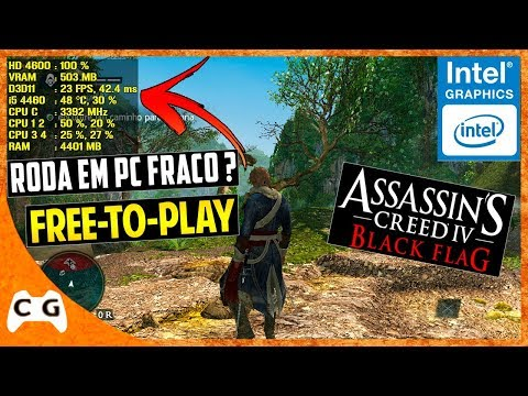 Assassin's Creed IV: Black Flag Grátis Gameplay Intel HD Graphics - Roda em PC Fraco #439