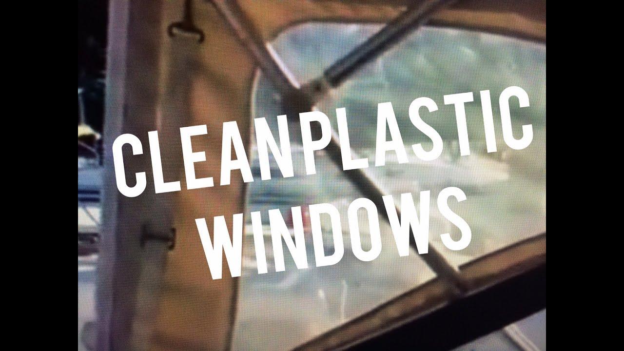 Clean Plastic Vinyl Boat Windows W Pledge Multi Surface