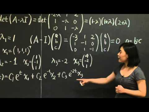 Differential Equations and exp (At) | MIT 18.06SC Linear Algebra, Fall 2011
