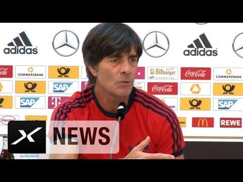 Joachim Löw und US-Nationalcoach Jürgen Klinsmann: