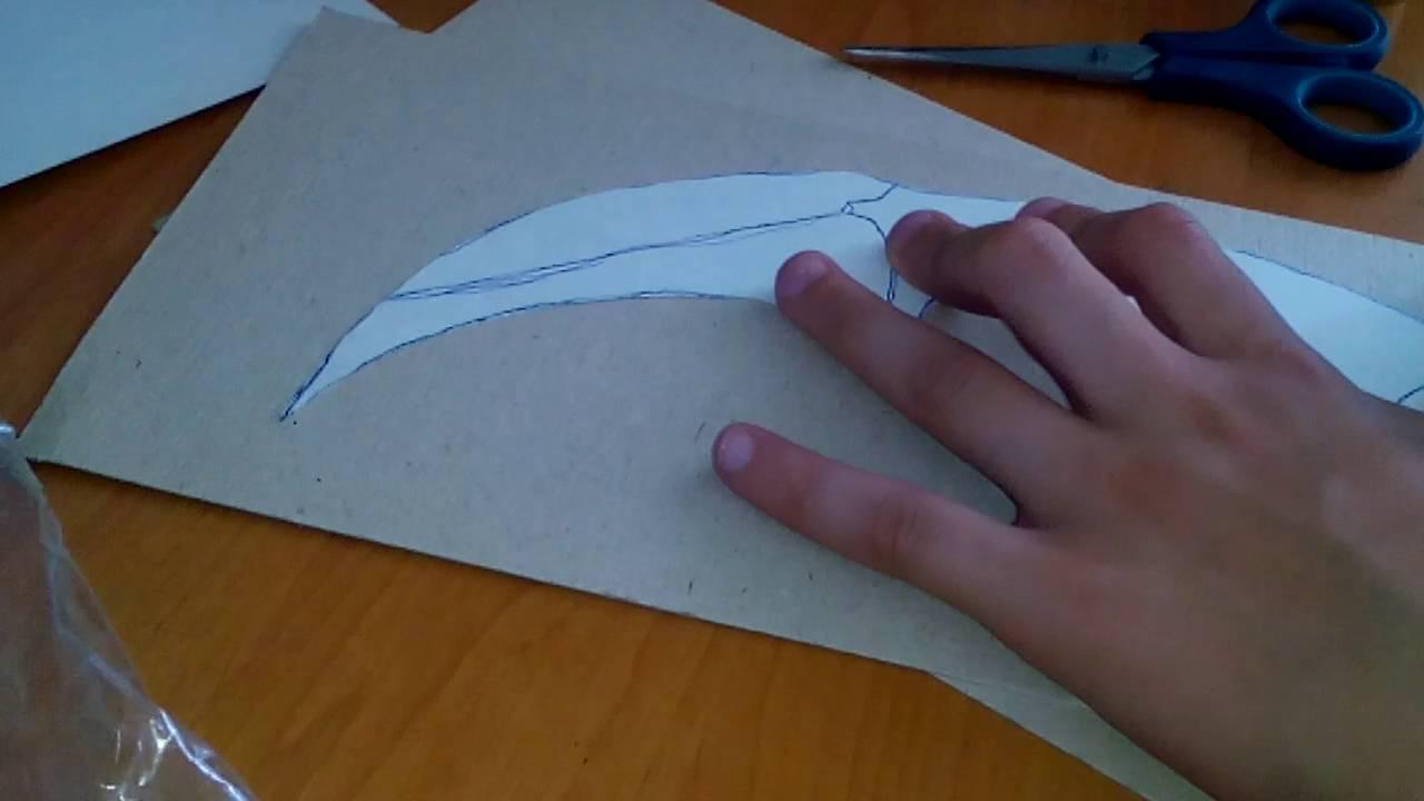 Как сделать оригами керамбита 821