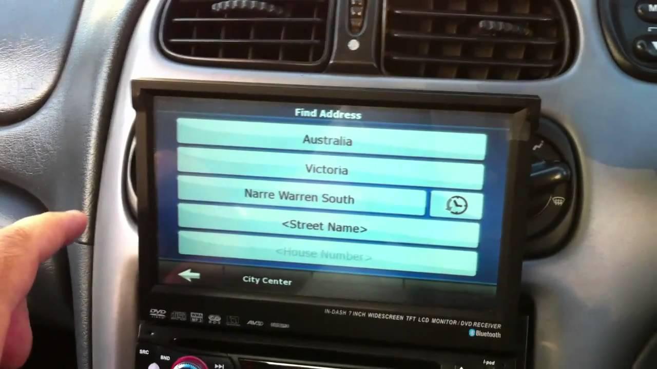 "7"" LCD 1 DIN CAR STEREO IN DASH TV CD DVD PLAYER GPS AU ..."