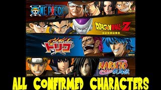 JStars Victory VS  Complete Character Roster List