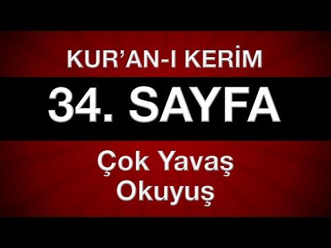 Kur'an-ı Kerim 35. sayfa (çok yavaş okuyuş) yeni öğrenenler için